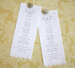 wedding program wording wedding advice cards