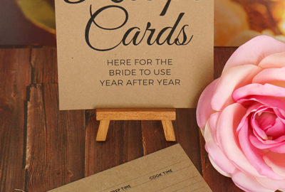 Recipe Cards Sign For Bridal Shower Request Free Printable